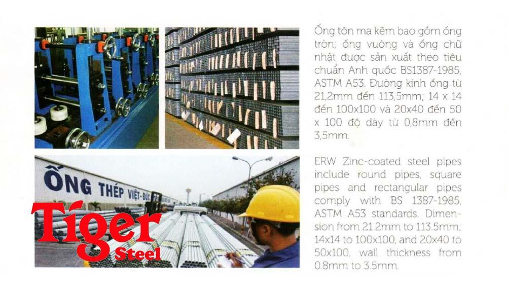 catalogue ống thép Việt Đức